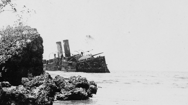 Almirante_Oquendo_wreck_Cuba_1899
